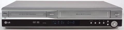 LG RC 6500 VHS-Rekorder/DVD-Rekorder Kombination silber