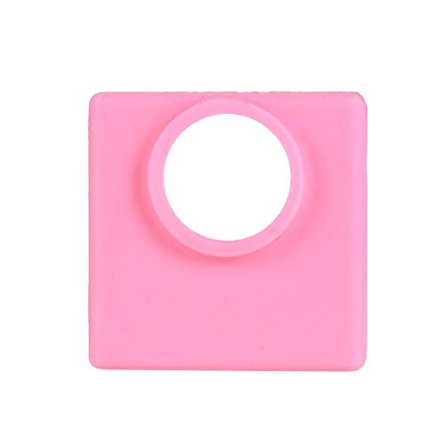 Yutongyi Drucker 1 Stück Silikon Socken Abdeckung Heizungsisolation Fall 280 ℃ Hochtemperaturbeständig Für MK7 / MK8 / MK9 Heizblock Kompatibel (Color : Pink)
