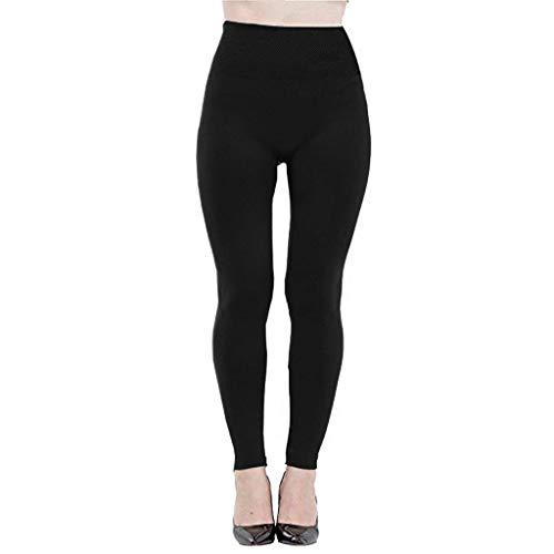 Frashing Damen Lange Strumpfhose in Fleece Leggings Hohe Taille Sporthosen Jogginghose Training Pants Skinny Stretch Hosen Warm Bleiben