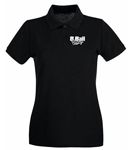T-Shirtshock - Polo pour femme FUN0214 8ballracing Noir