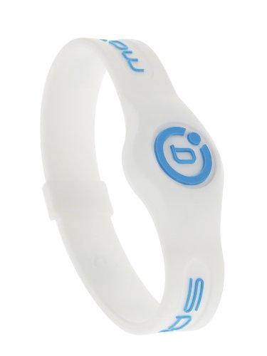 Bioflow Silikon-Armband zur Magnetfeldtherapie L (20,5 cm) Weiß/Neonblau