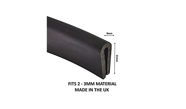 TSEC® Rubber U Seal  6mm x 8mm Made in the UK