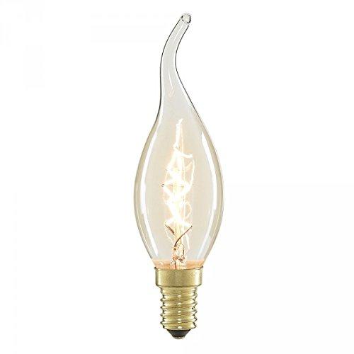 Vintage Glühlampe Kerze Flame-Edison Stil E14Schraube