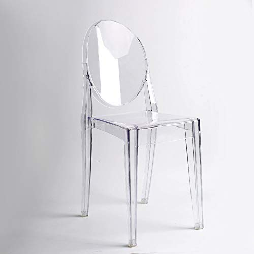 Lot de 4 Clair chaises Inspiré Ghost Victoria Salle à Manger Transparent Moderne