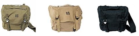 Purecity Tasche, militärisch, Messenger-Tasche, Umhängetasche, Beutel, Schultertasche, US Army–Aufschrift US, für Airsoft, Paintball, Motorrad–Outdoor, kaki