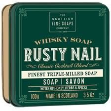 Scottish Soap Soap in a Tin Rusty Nail