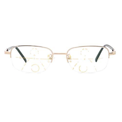Blu-ray Glasses,Beobachten Sie Mobile Brillen,Entlastung der Augen vor Müdigkeit,Computer Lesen EyewearFerne und nahe Brille Smart Zoom Lesebrille,Glasses Anti Blue Light-C-4-+250