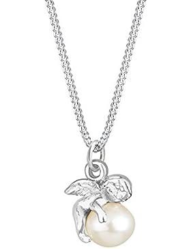 Elli Halskette Engel Kugel Süßwasserzuchtperle 925 Sterling Silber 45cm