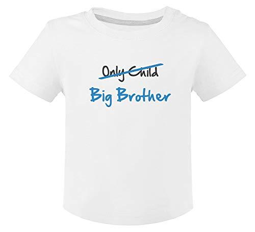 Camiseta para niños - Only Child to Big Brother - Regalo para Futuro Hermano Mayor 18M Blanco