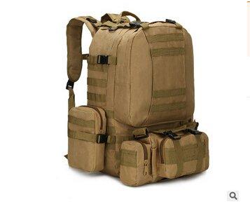 Mefly Zaino 50L Ampia Capacità Di Assalto Militare Di Viaggio Zaini Jungle Camouflage khaia