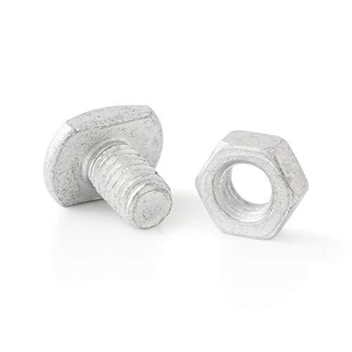 Zelsius Gewächshausschrauben (50 Stück) inkl. Muttern, Stahl korrosionsbeschichtet, Bolzen,...