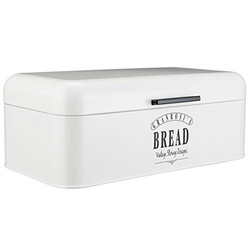 Granrosi Designer Brotkasten - Hochwertige Metall Brotbox Im Vintage Stil - Bietet Viel Stauraum Und Hält Brot Sowie Backwaren Tagelang Frisch