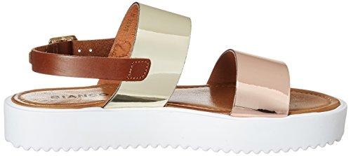 Bianco Flatform Strap Sandal Jfm17, Sandales  Bout ouvert femme Doré