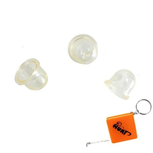 Preisvergleich Produktbild HURI 3x Pumpe Primer für ZAMA Vergaser C1Q C1U C3A C3M C3EL Benzin Pumpe Ball Kraftstoff ersetzt ZAMA 0057003 / 0057004 / STIHL 4226 121 2700