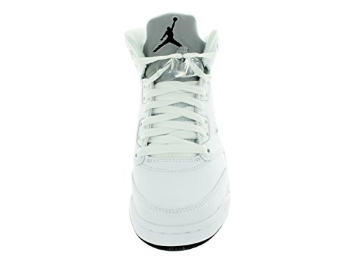 Nike Air Jordan 5 Retro Bg, Chaussures de Sport Garçon, Blanc, For Men Blanc / Noir / Argenté  (White / Black-Metallic Silver)