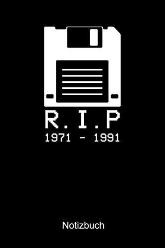 R.I.P 1971 - 1991 NOTIZBUCH: Kariertes Notizbuch für Nerds, Geeks, Internet, Computer, Videospiel und Gaming Fans - Notizheft Klatte für Männer, Frauen und Kinder