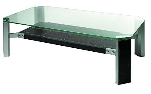 Meuble House Table Basse en Verre Double Plateaux 120 * 65