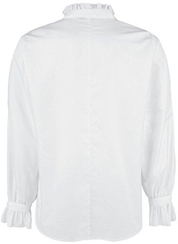 Banned Rüschenhemd mit Schnürung Hemd Weiß Weiß