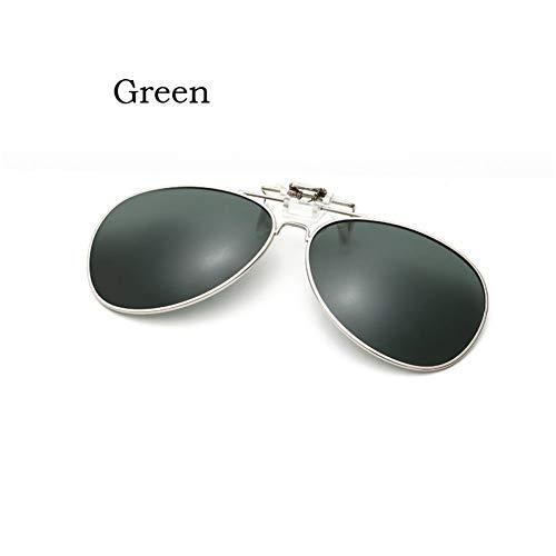 YLNJYJ Sonnenbrillen Polarized Clip On Sunglasses Clip Auf Brille Oversize Polaroid Objektiv Herren Damen Spiegelclip Sonnenbrille Nachtsichtfahren