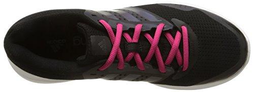 adidas Duramo 7, Chaussures de Running Compétition Femme Noir (Core Black/Night Metallic/Bold Pink)