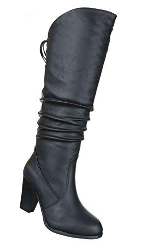 ef689b01cc45ff Damen Stiefel Schuhe Moderne Boots Schwarz 36 37 38 39 40 41 Schwarz ...