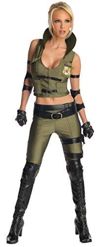 Mortal Kombat Sonya Blade Kostüm für Damen, Größe:L