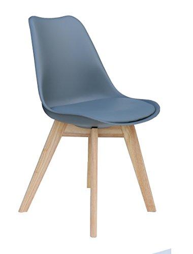 Designer Stuhl 'PARIS' Stuhl Esszimmerstuhl Küchenstuhl Bürostuhl grau 221068