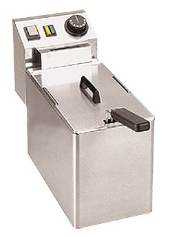 Elektro Fritteuse Edelstahl Friteuse 4 5 Liter 180x420x300mm