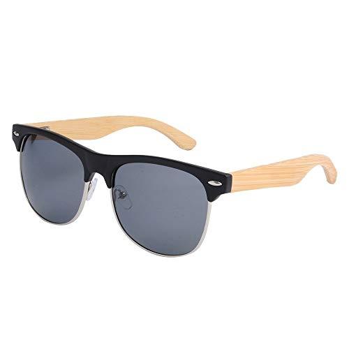 GSSTYJ Sonnenbrille UV-Schutz, UV400 PC Polarisationsbrille Half Frame Männer und Frauen Urlaub und Alltagskleidung/Als Geschenke für Freunde und Verwandte (Farbe : Schwarz)