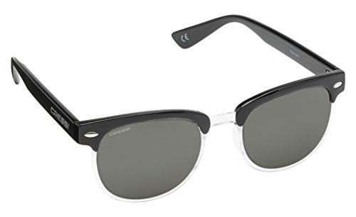 Cressi Panama Sonnenbrille, Schwarz/Dunkelgrau Linses, One Size