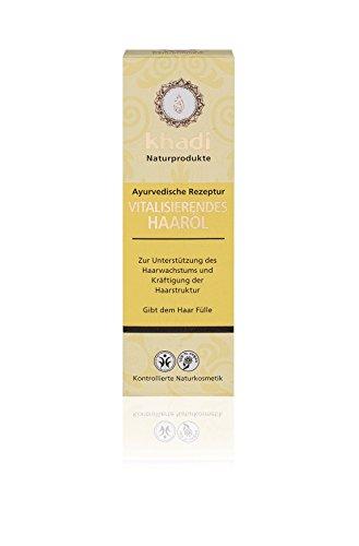 Khadi Vitalisierendes Haar-Öl 100ml I Ayurvedische Haarpflege gegen Haarausfall I Naturkosmetik 100{fc9ff4e9cd3be2003db982e4ced14c2d3bce8d6ab4fb4bf7f6031db525027b16} biologisch I Sesamöl, Kokosöl & Rosmarinöl