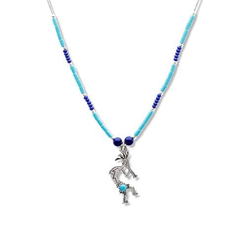 Liquidsilber Halskette Kokopelli Westernschmuck Indianerschmuck SM028 (Kokopelli Halskette)