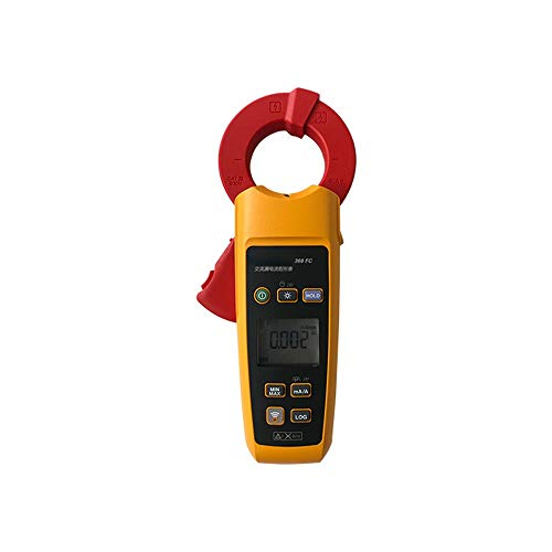 JUJIANFU Professionelle LCD Mini Erdschlussstrom Tester Clamp Meter 300 Milliampere 2 300Amps (Color : Multi-Colored, Size : 368FC) -