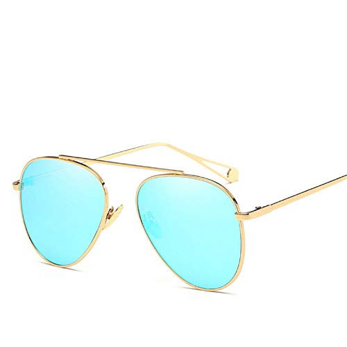 Wenkang Women Vintage Sunglasses Designer Flat Round Glasses Street Fashion Mirror Metal Frame Uv400,2
