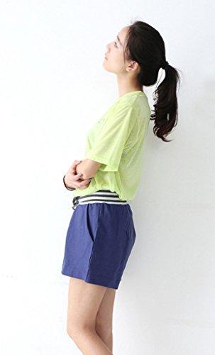 EOZY Damen Shorts Hotpants Kurze Hose Strandshorts Badeshorts Boardshorts Marineblau