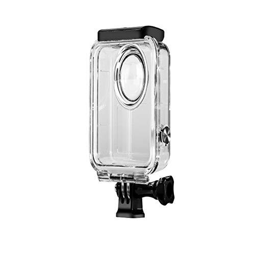 Wasserdichtes Gehäuse für die GoPro MAX 360-Kamera, wasserdichtes Gehäuse mit 2-teiliger Objektivkappe, 2-teiliger gehärteter Folie, 1-teiliger Kunststoffschlüssel, 1er-Pack Antibeschlag für Gopro max