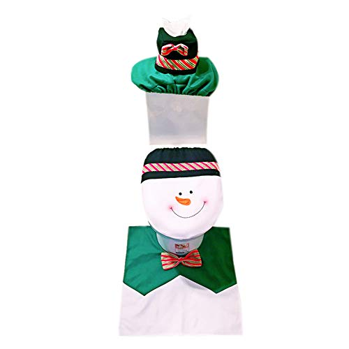 Drawihi Navidad muñeco 3 Piezas Funda Asiento tapetes