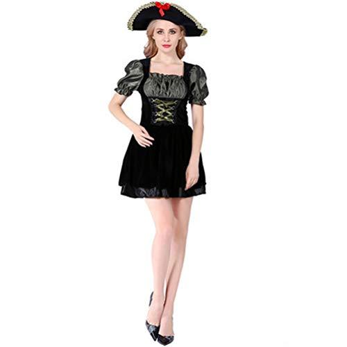 Piraten Holloween Kostüm - Tik Halloween Kostüm/Geburtstagsparty Cosplay Outfit - Gruseliges Piraten Halloween Kostüm für Herren,2