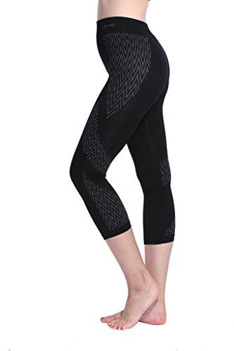 Lotus Instyle femmes capris Sport Leggings Yoga Sweatpants Black