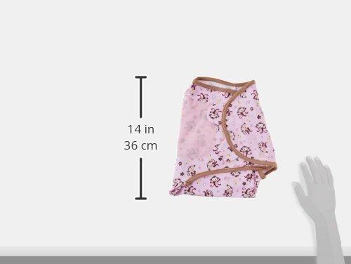 SwaddleMe Baby Pucksack, Baumwolle, Pink-Braun mit Äffchen - Gr. SMALL