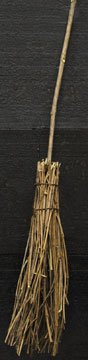 Natural Vine Twig Broom Branch Handle Country Primitive D cor
