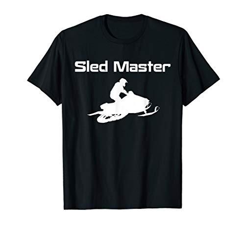 Schlitten Master Schneemobil Extremsport Winterrodeln T-Shirt -