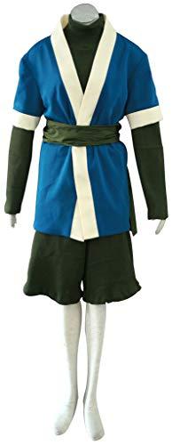 mtxc Herren Naruto Cosplay Kostüm Haku 1., Blau