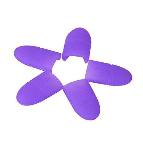 BZLine® 10Pcs Pinces à Ongles / Nail Remover en Silicone - Outil de Décapage de Vernis à Ongles - Violet