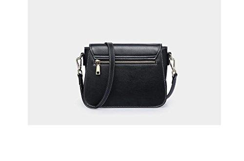 Le nuove borse in pelle, la signora pacchetto, rivetti Messenger, borsa a tracolla, in pelle piccolo pacchetto quadrato, borse black