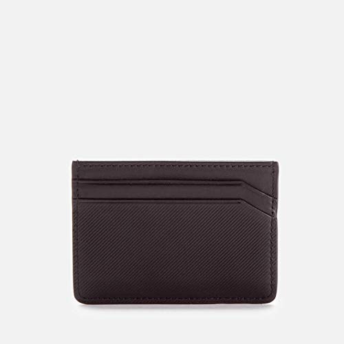 HUGO 'Subway' black card holder. Ridge texture. Four card slots. Internal pocket. Debossed logo on the front. Branded gift box.LeatherDimensions: H: 7cm x W: 10cm