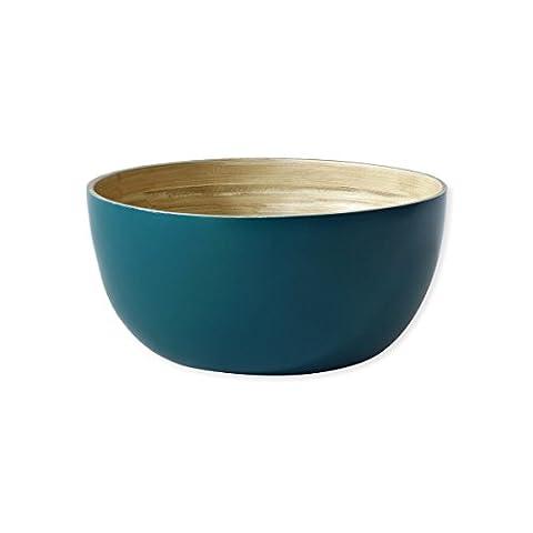 Saladier en bambou bleu 23cm - BAYA - Bruno Evrard