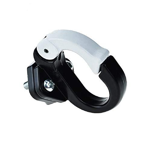 aibiku Metallhaken für Elektro-Scooter, Fahrräder, Zubehör zum Aufhängen, Helmtaschen, Klauenhalter, Gadget, Gepäck, Gepäckträger, Gepäckträger (schwarz)
