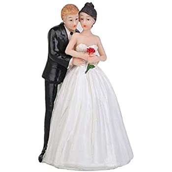 Wedding Cake Topper Love Favors Figurine Decorations Bride and Groom Decor