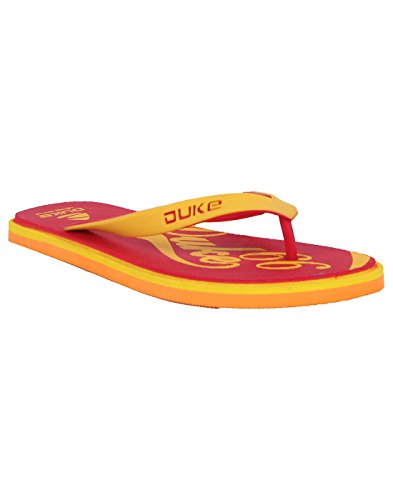 Duke Men's Red, Yellow & Orange Coloured Eva Slippers 8  available at amazon for Rs.250